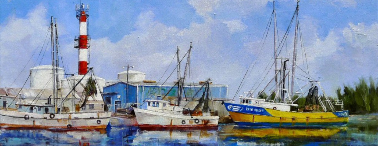 Shrimp Boats at Stock Island by A. Rose